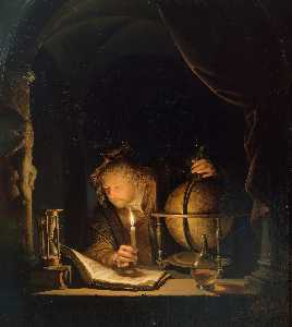 Gerrit (Gérard) Dou - The Astronomer by Candlelight