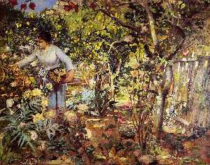 Henri Edmond Cross - Corner of the Garden in M..