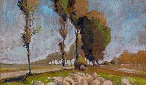 Henri Edmond Cross - Shepherd and Sheep