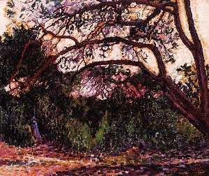 Henri Edmond Cross - Woded Landscape