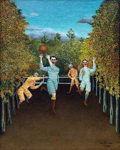 Henri Julien Félix Rousseau (Le Douanier) - The Football players