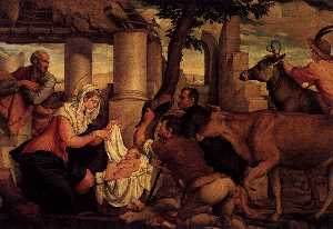 Jacopo Bassano (Jacopo Da.. - Adoration of the Shepherd..