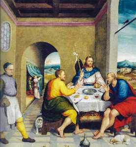 Jacopo Bassano (Jacopo Da Ponte) - Supper at Emmaus