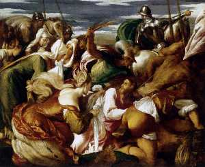Jacopo Bassano (Jacopo Da Ponte) - The Road to Calvary