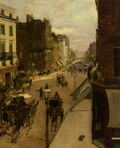 Jacques-Emile Blanche - A Street Scene in London