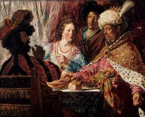 Jan Andrea Lievens - The Feast of Esther