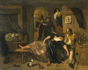 Jan Steen - The drunken couple