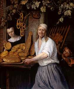 Jan Steen - The Leiden Baner Arend Oo..