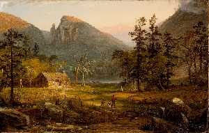 Jasper Francis Cropsey - Pioneer's Home, Eagle Cliff, W..