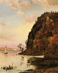 Jasper Francis Cropsey - Under the Palisades, in Octobe..