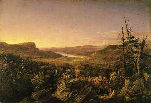 Jasper Francis Cropsey - View of Greenwood Lake, New Je..