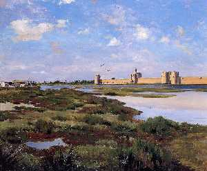 Jean Frederic Bazille - Aigues-Mortes