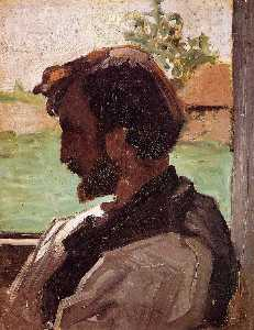 Jean Frederic Bazille - Self Portrait at Saint-Sa..