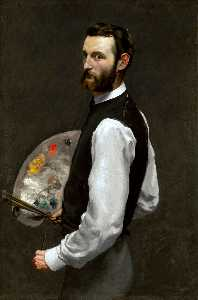 Jean Frederic Bazille - Self Portrait with Palett..
