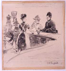 Jean-François Raffaelli - Women at the Counter