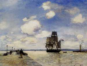 Johan Barthold Jongkind - The Jetee at Honfleur