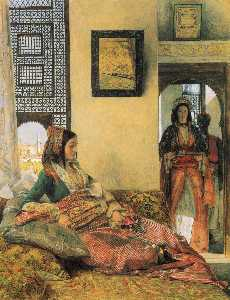 John Frederick Lewis - Life in the Hareem, Cairo