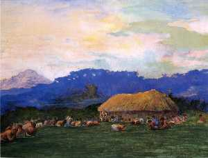 John La Farge - Evening Prayer in Devil Country, Fiji, Ngalawana