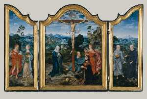 Joos Van Cleve - The Crucifixion with Saints and a Donor