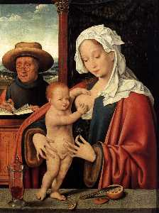 Joos Van Cleve - The Holy Family 1