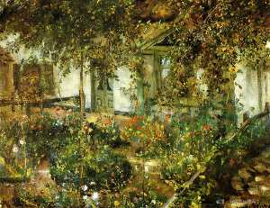 Lovis Corinth (Franz Hein.. - Farmyard in Bloom