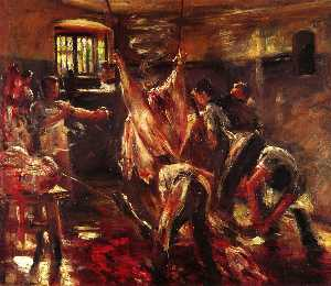 Lovis Corinth (Franz Heinrich Louis) - In the Slaughter House