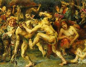 Lovis Corinth (Franz Hein.. - Odysseus Fighting with th..