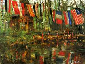 Lovis Corinth (Franz Hein.. - The New Pond in the Tierg..