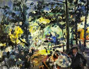 Lovis Corinth (Franz Hein.. - The Walchensee, On the Te..