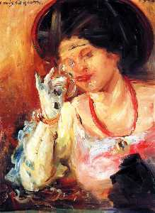 Lovis Corinth (Franz Heinrich Louis) - Woman with a Glass of Wine