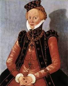 Lucas Cranach The Younger - Portrait of a Woman 1