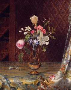 Martin Johnson Heade - Vase of Mixed Flowers