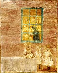 Maurice Brazil Prendergast - Shadow (aka Children by a Window)