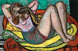 Max Beckmann - Woman with Mandolin in Ye..