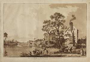 Paul Sandby - Part of the Old Bridge at Shre..
