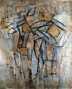 Piet Mondrian - Composition in gray-blue