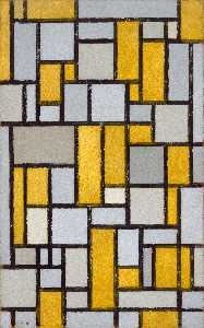 Piet Mondrian - Composition in Grey and O..