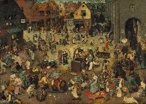 Pieter Bruegel The Younger - The Battle between Lent and Carnival