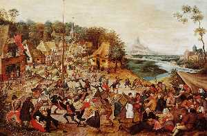 Pieter Bruegel The Younge.. - The Dance around the May ..