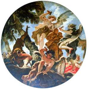 Sebastiano Ricci - Angels Sculpturing the St..