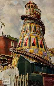 Stanley Spencer - Helter Skelter. Hampstead Heat..