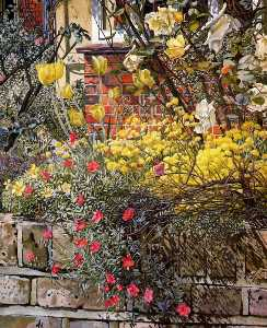 Stanley Spencer - Rock roses. Old Lodge. Taplow