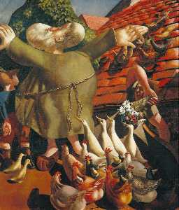 Stanley Spencer - Saint Francis and the Birds