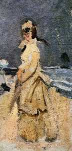 Claude Monet - Camille on the Beach