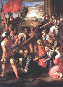 Raphael (Raffaello Sanzio Da Urbino) - Christ Falls on the Way to Calvary