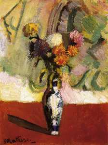 Henri Matisse - Chrysanthemums in a Chinese Vase