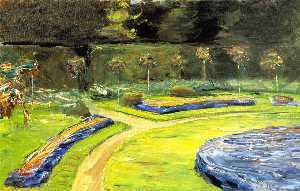 Max Liebermann - Circular Flower Bed in th..