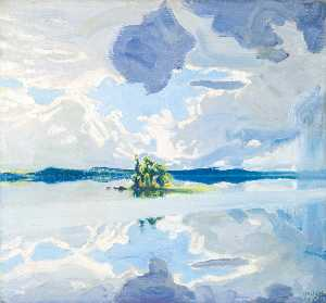 Akseli Gallen Kallela - Clouds Above a Lake