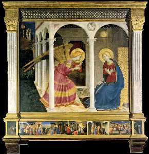 Fra Angelico - The Cortona Altarpiece (The Annunciation)