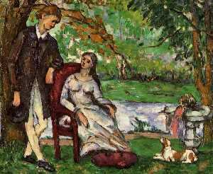 Paul Cezanne - Couple in a Garden (also known as The Conversation)